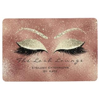 Gold Pink Peach Makeup Glitter Lashes Beauty Eyes Floor Mat