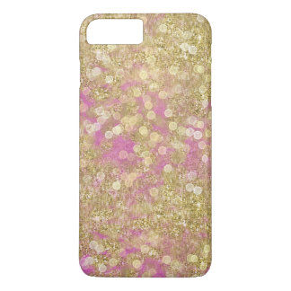 Gold Pink Sparkly Bokeh iPhone 8 Plus/7 Plus Case