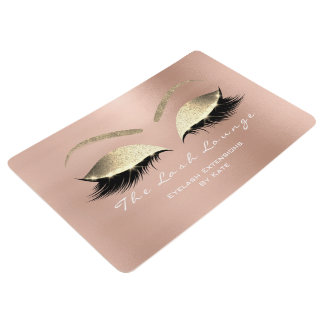 Gold Pink White Makeup Glitter Lashes Beauty SPA Floor Mat