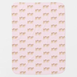 Gold Pink XOXO Baby Blanket