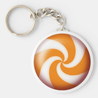 GOLD PINWHEEL CANDY by SHARON SHARPE Keychain