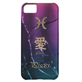 Gold Pisces Astrology Zodiac Chinese Love Symbols iPhone 5C Case