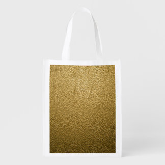 GOLD PLASTIC REUSABLE GROCERY BAG