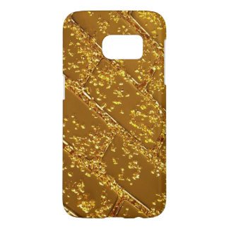 gold plate textures samsung galaxy s7 case