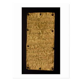 Gold plate with Phoenician inscription, from Santa Postcard