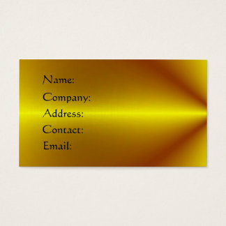 Gold Plated Business Card