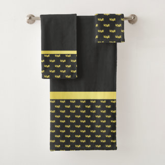Gold Plated Love Bath Towel Set