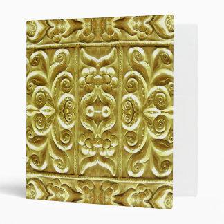 Gold Plated Ornament Vinyl Binder