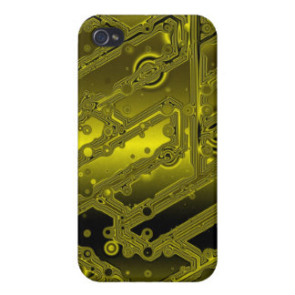 Gold Plated Transistor Circuit Board Speck Case iPhone 4 Cases