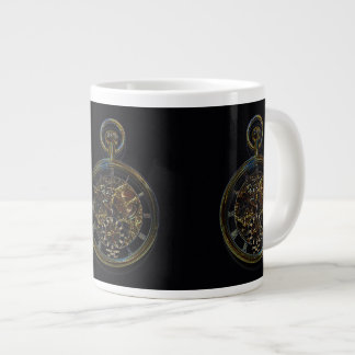 Gold Pocket Watch Large Coffee Mug