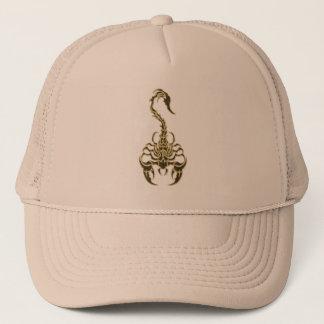 Gold poisonous scorpion very venomous insect trucker hat