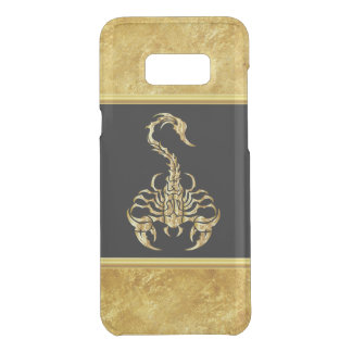 Gold poisonous scorpion very venomous insect uncommon samsung galaxy s8 plus case