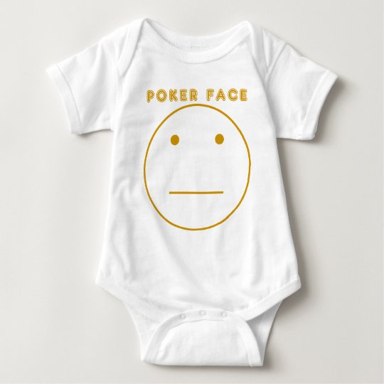 Gold Poker Face Baby Bodysuit