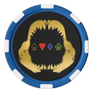 Gold Poker Shark Chips