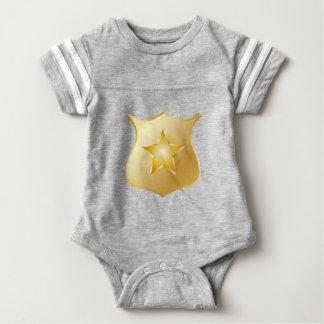 Gold Police Badge Baby Bodysuit