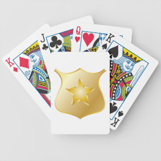 Gold Police Badge Bicycle Playing Cards