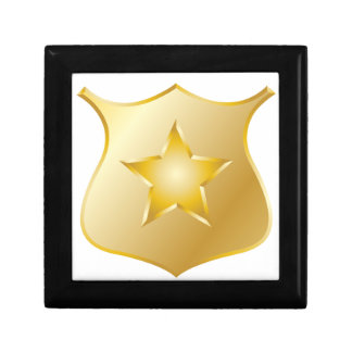 Gold Police Badge Gift Box
