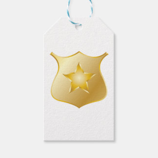 Gold Police Badge Gift Tags