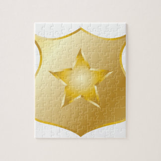 Gold Police Badge Jigsaw Puzzle