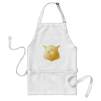 Gold Police Badge Standard Apron