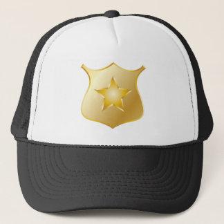 Gold Police Badge Trucker Hat