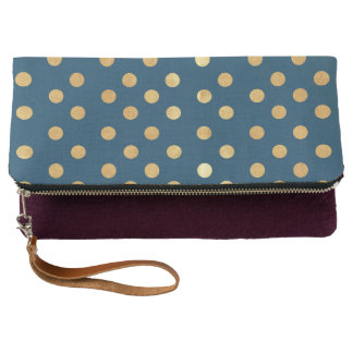 Gold Polka Dot Clutch