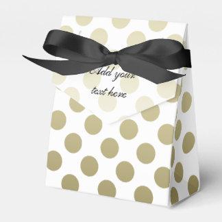 Gold Polka Dot Favor Box