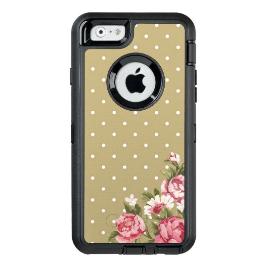 Gold Polka Dot Floral Girly Phone OtterBox iPhone 6/6s Case