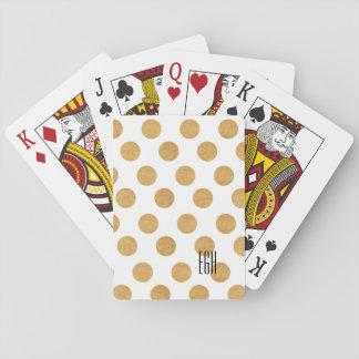 Gold Polka Dot Monogram Playing Cards