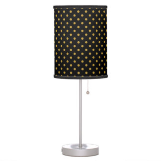 Gold Polka Dot Pattern Table Lamp