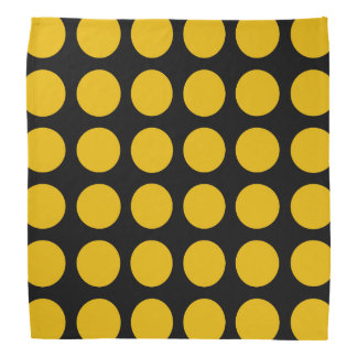 Gold Polka Dots Black Bandana