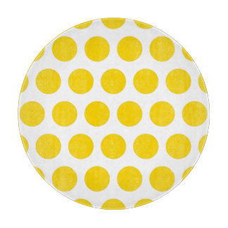 Gold Polka Dots Cutting Board