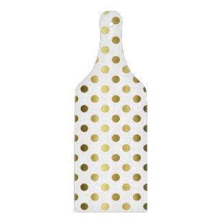Gold Polka Dots Glass Cutting Board