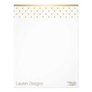 gold polka dots letterhead