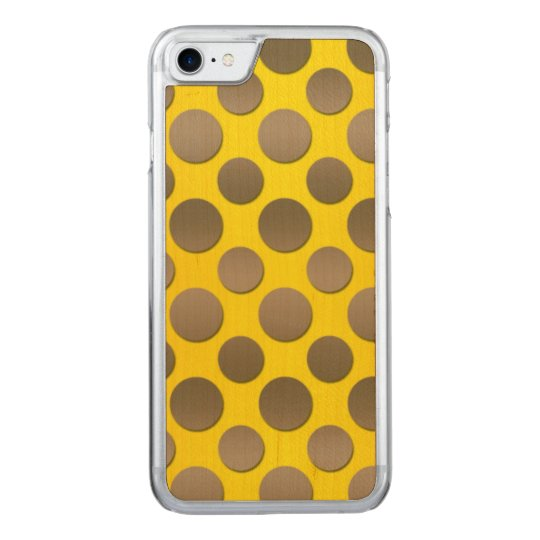 Gold Polka dots on Gold background Carved iPhone 7 Case