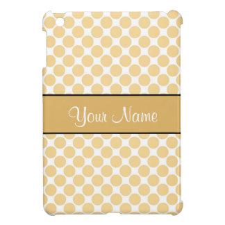 Gold Polka Dots On White Background iPad Mini Covers
