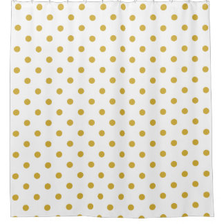 Gold Polka Dots Pattern on White