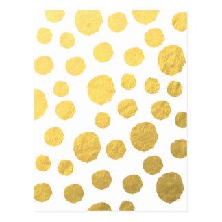 Gold Polka Dots Postcard