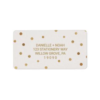 Gold Polka Dots Wedding Label