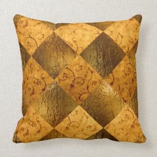 "Gold Polyester Throw Pillow 20"" x 20"""