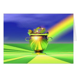 Gold Pot Of Gold Card