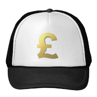 Gold Pound Sign Graphic Trucker Hat