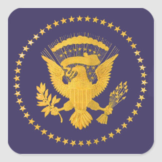 Gold Presidential Seal on Blue Ground