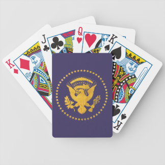 Gold Presidential Seal on Blue Ground Bicycle Playing Cards