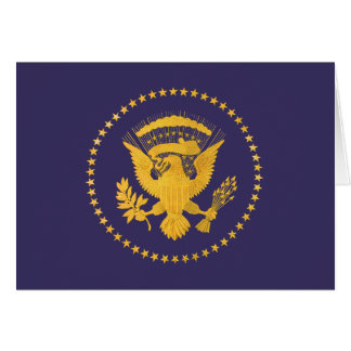 Gold Presidential Seal on Blue Ground Card