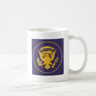 Gold Presidential Seal on Blue Ground Coffee Mug