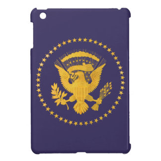 Gold Presidential Seal on Blue Ground Cover For The iPad Mini