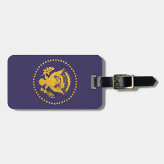 Gold Presidential Seal on Blue Ground Luggage Tag