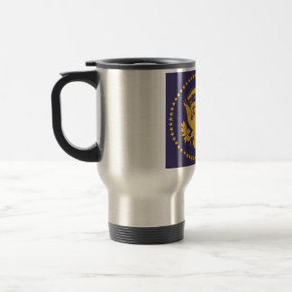 Gold Presidential Seal on Blue Ground Travel Mug