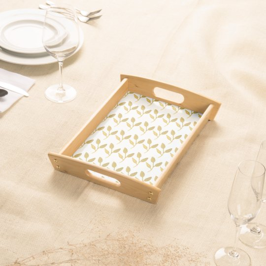 Gold print serving tray